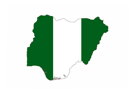 nigeria country flag map shape national symbol