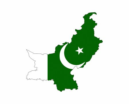 pakistan country flag map shape national symbol