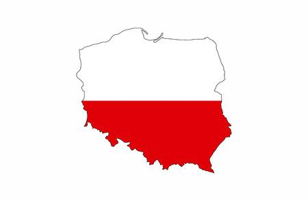 poland country flag map shape national symbol