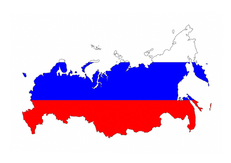 russia country flag map shape national symbol