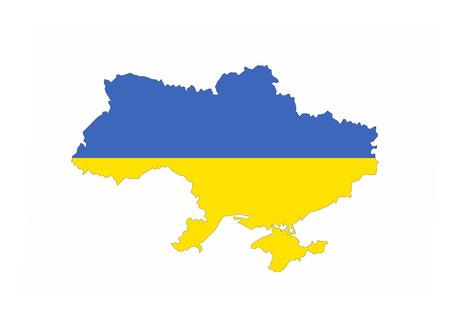 ukraine country flag map shape national symbol