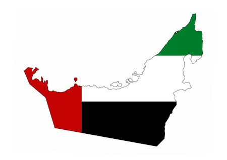 united arab emirates country flag map shape national symbol