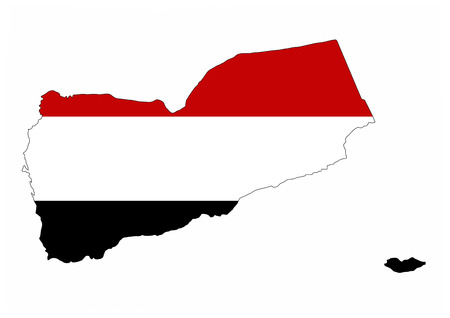 yemen country flag map shape national symbol