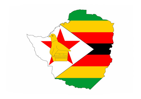 zimbabwe country flag map shape national symbol