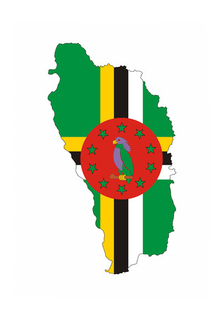 dominica country flag map shape national symbol