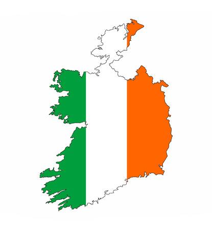 ireland country flag map shape national symbol