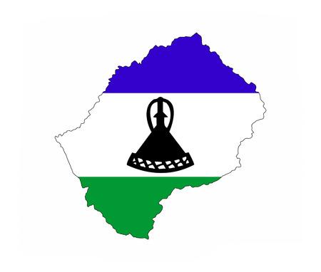 lesotho country flag map shape national symbol