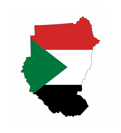 sudan country flag map shape national symbol