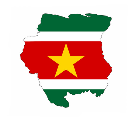 suriname country flag map shape national symbol