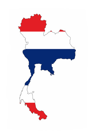 thailand country flag map shape national symbol