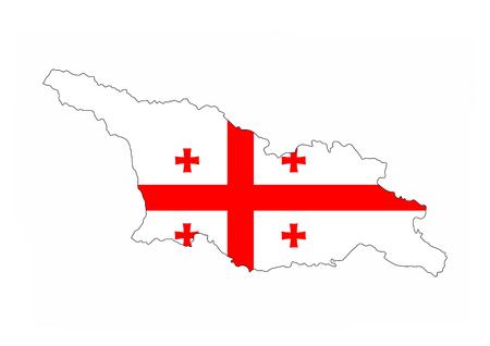 georgia country flag map shape national symbol