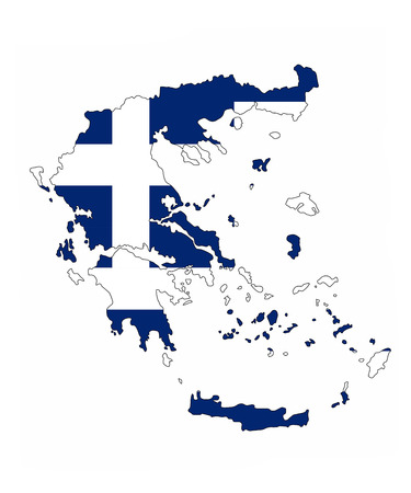 greece country flag map shape national symbol