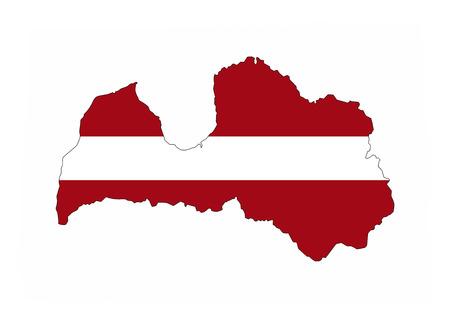 latvia country flag map shape national symbol