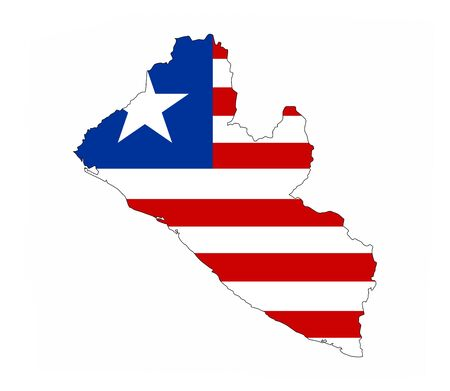 liberia country flag map shape national symbol