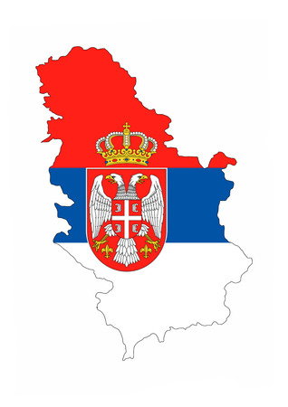 serbia country flag map shape national symbol