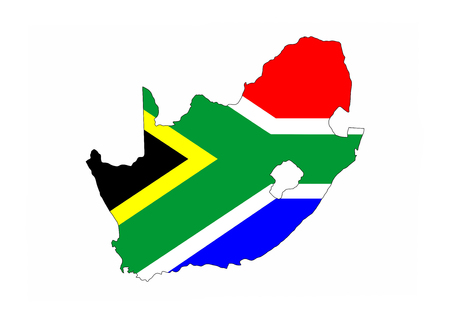 south africa country flag map shape national symbol