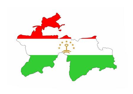 tajikistan country flag map shape national symbol