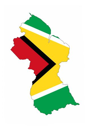 guyana country flag map shape national symbol
