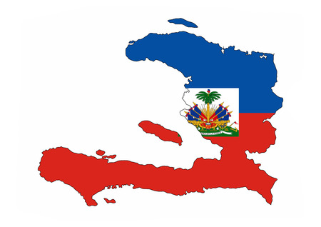 haiti country flag map shape national symbol