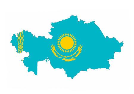 kazakhstan country flag map shape national symbol
