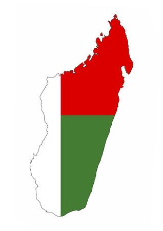 madagascar country flag map shape national symbol