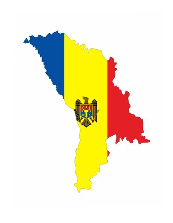 moldova country flag map shape national symbol