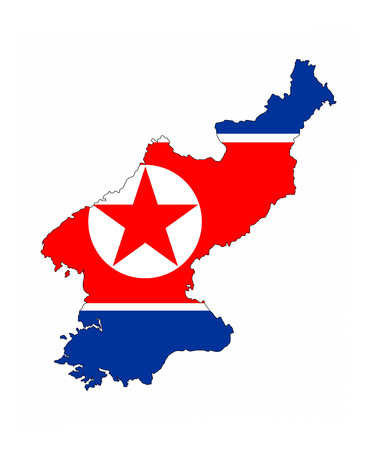 north korea country flag map shape national symbol