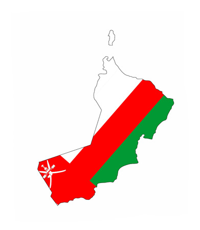 oman country flag map shape national symbol