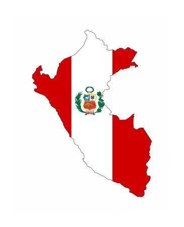 peru country flag map shape national symbol