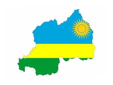 rwanda country flag map shape national symbol