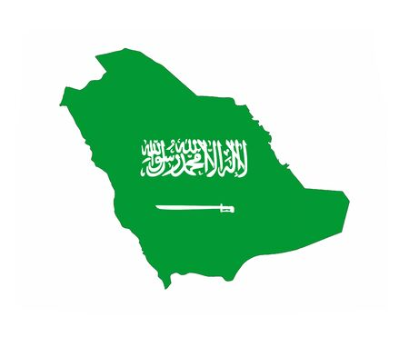 saudi arabia country flag map shape national symbol