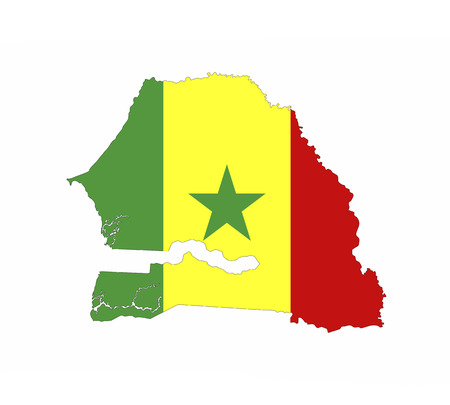senegal country flag map shape national symbol