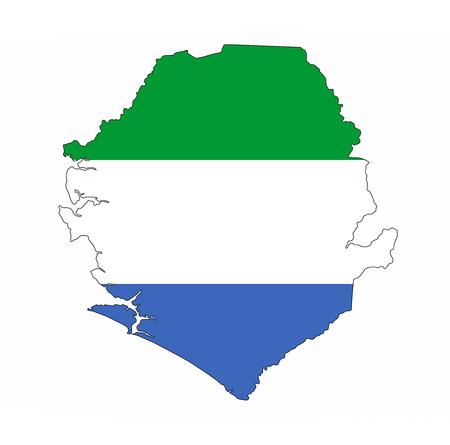 sierra leone country flag map shape national symbol