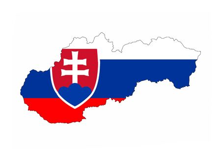 slovakia country flag map shape national symbol