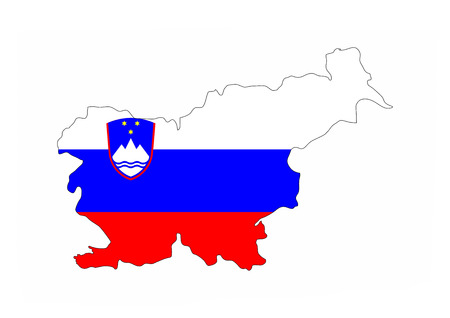 slovenia country flag map shape national symbol