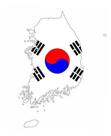 south korea country flag map shape national symbol