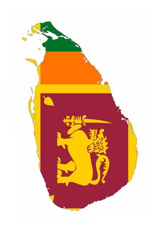 sri lanka country flag map shape national symbol