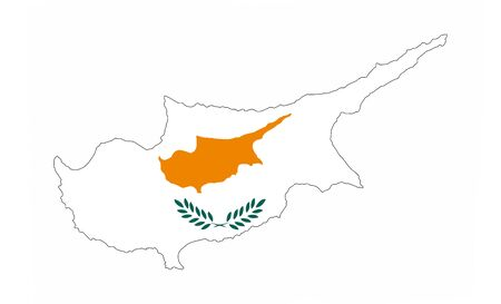 cyprus country flag map shape national symbol