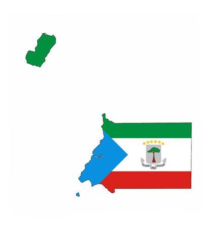 equatorial guinea country flag map shape national symbol