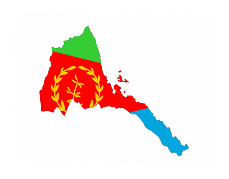 eritrea country flag map shape national symbol