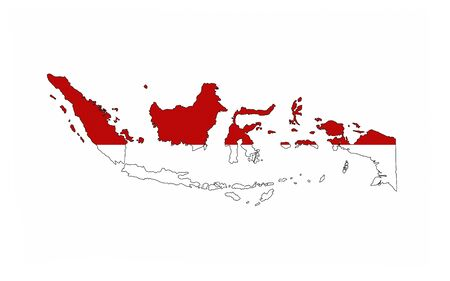 indonesia country flag map shape national symbol