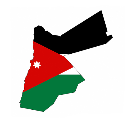 jordan country flag map shape national symbol