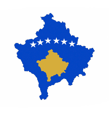 kosovo country flag map shape national symbol