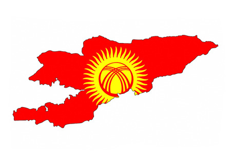 kyrgyzstan country flag map shape national symbol