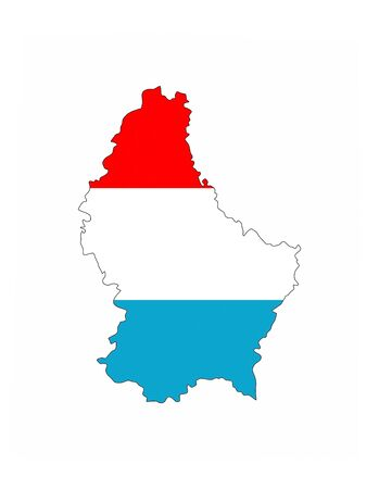 luxembourg country flag map shape national symbol