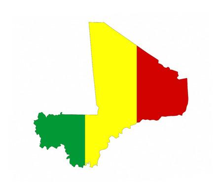 mali country flag map shape national symbol