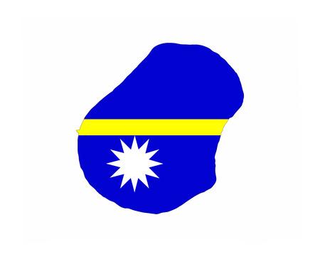 nauru country flag map shape national symbol