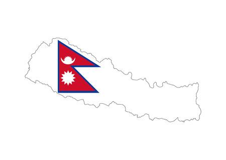 nepal country flag map shape national symbol
