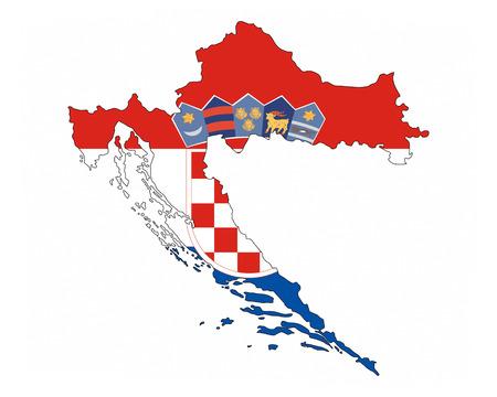 croatia country flag map shape national symbol