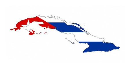 cuba country flag map shape national symbol